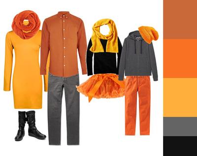 clothing - autumn oranges
