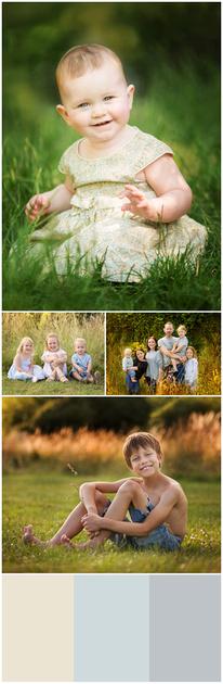 Seasonal outdoor family photoshoots - summer warm photos