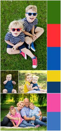 Seasonal outdoor family photoshoots - summer sunshine