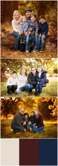 Seasonal outdoor family photoshoots - golden autumn light