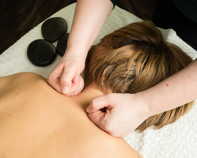Commercial photography for small businesses in Windsor Berkshire - massage therapy image