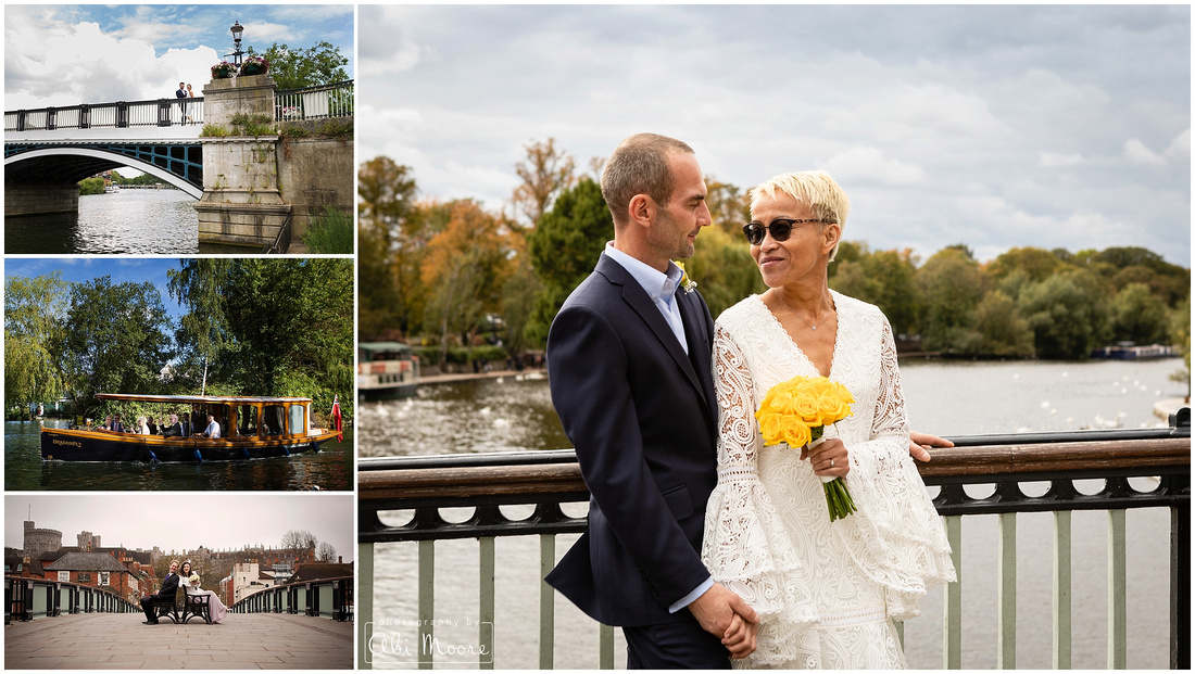Wedding photographs by the River Thames in Windsor