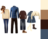 clothing - denim & neutrals