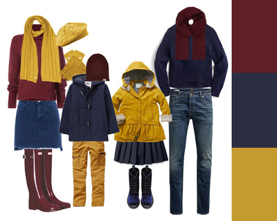 clothing - bold autumn colours